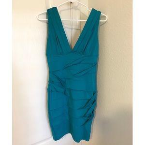 V Neck Dress with Ruching